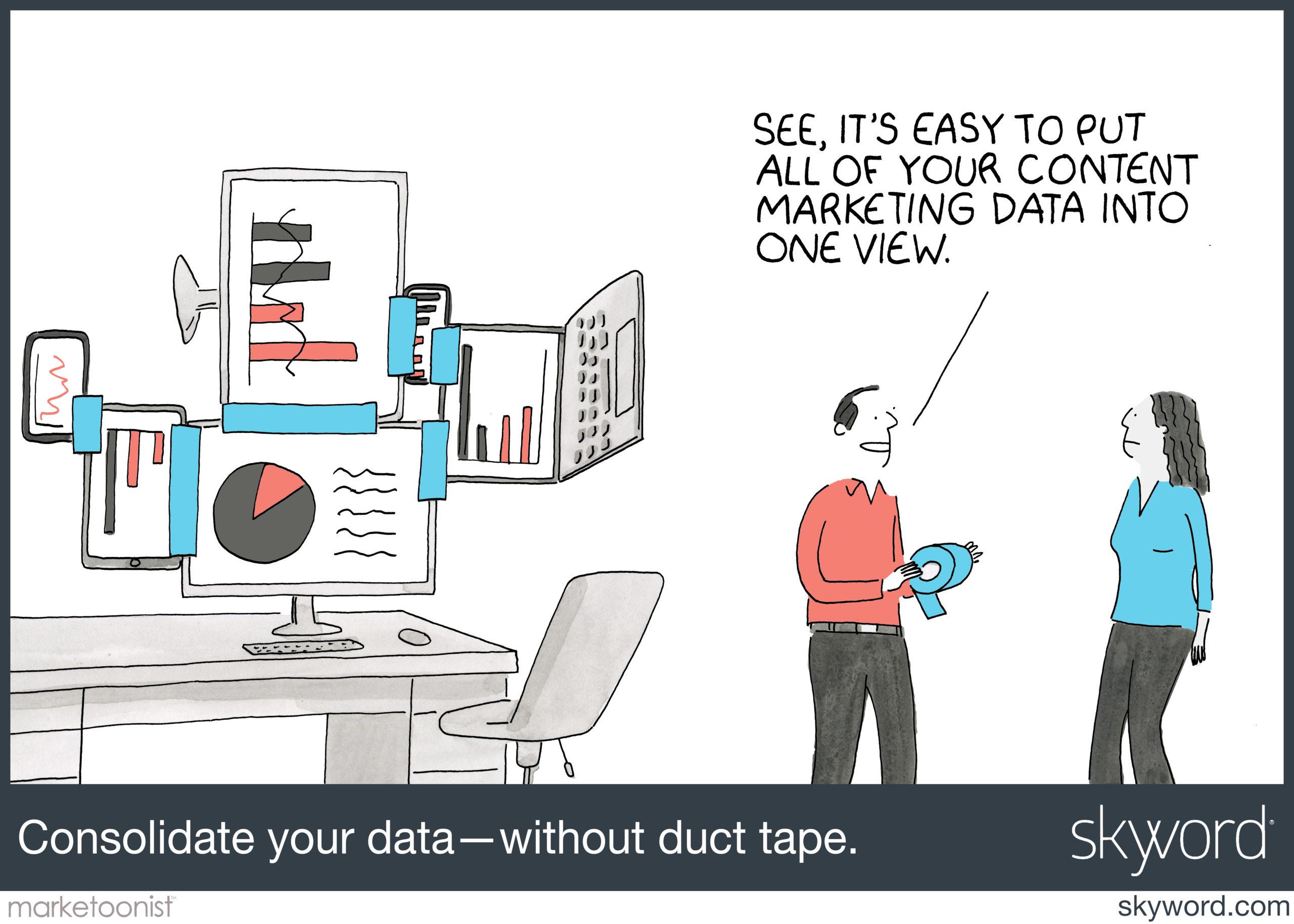 marketoonist optimize content marketing cartoon
