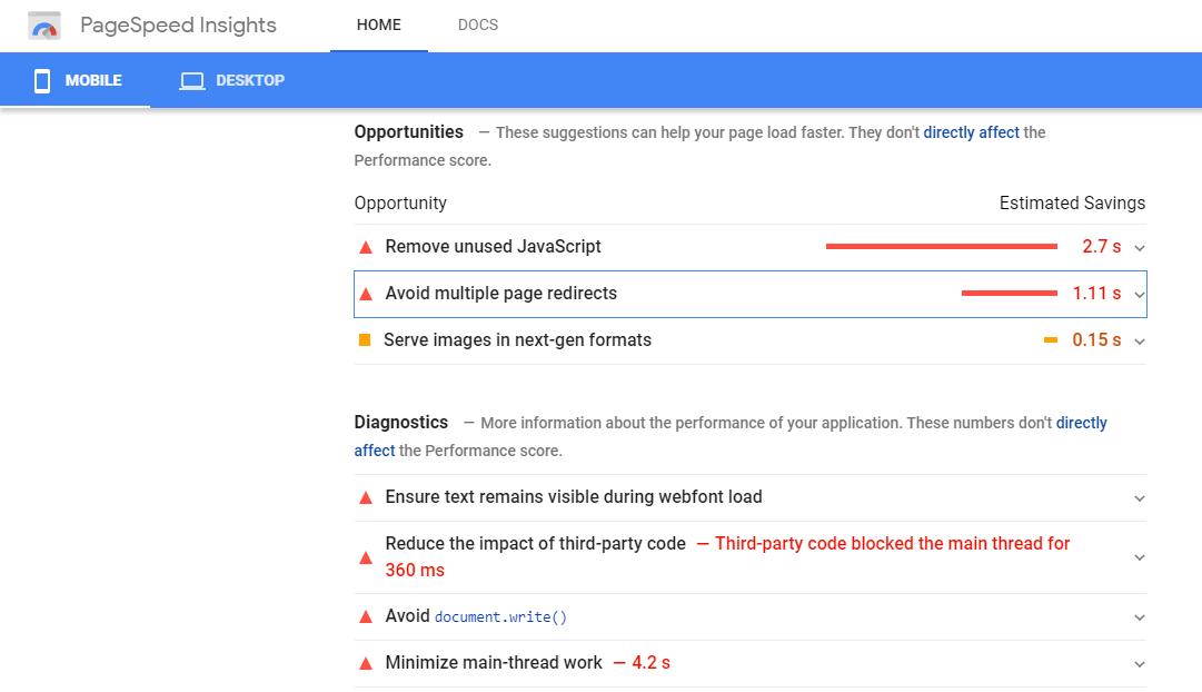 google algorithm page speed insights