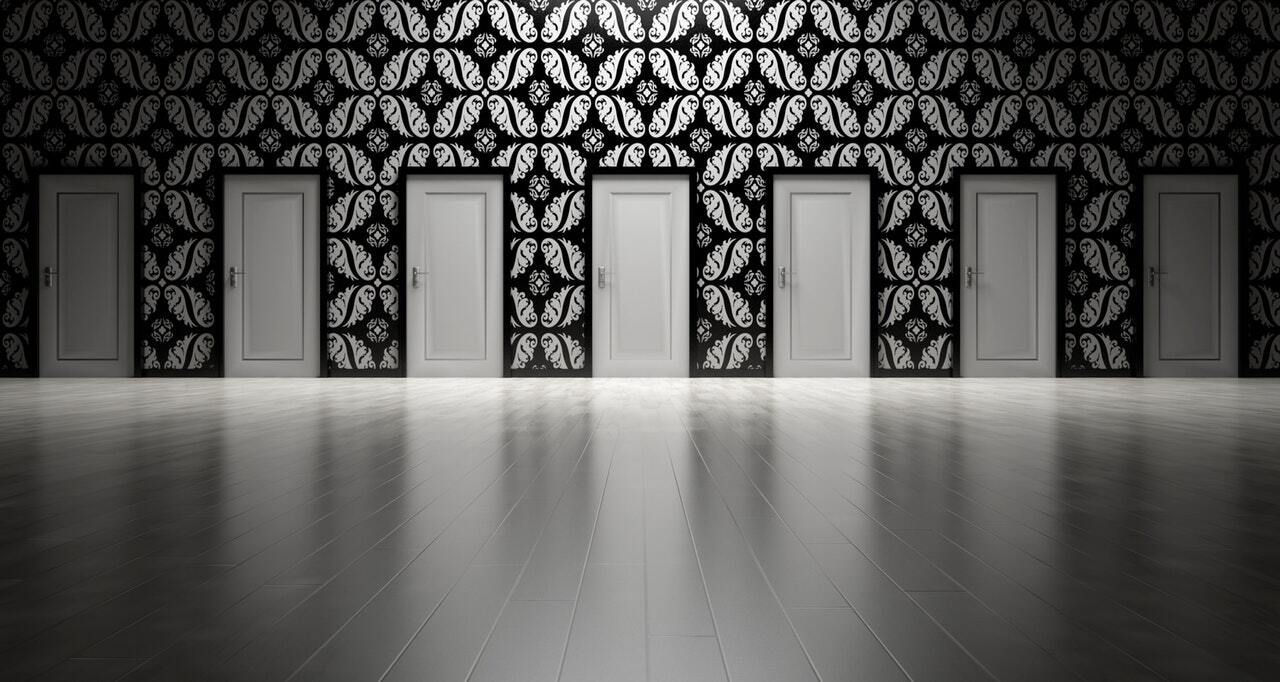 series of doors to choose from