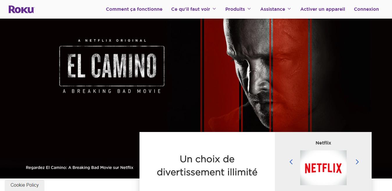 Roku France Website