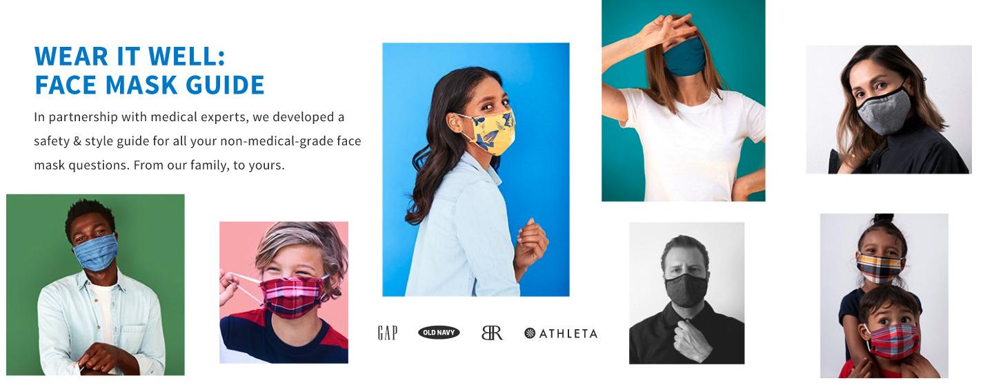 GAP face mask style landing page