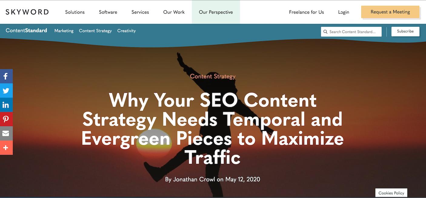 Temporal vs. Evergreen content