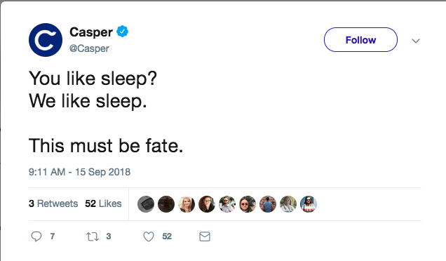 casper tweet
