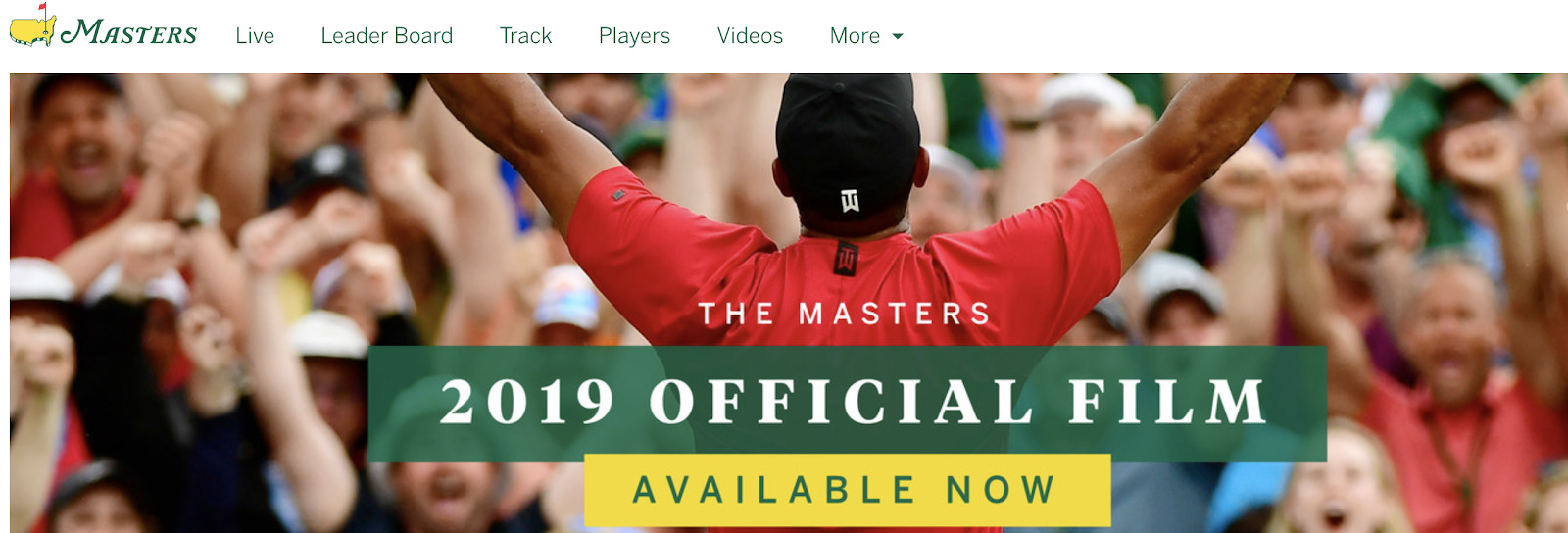 Masters home page