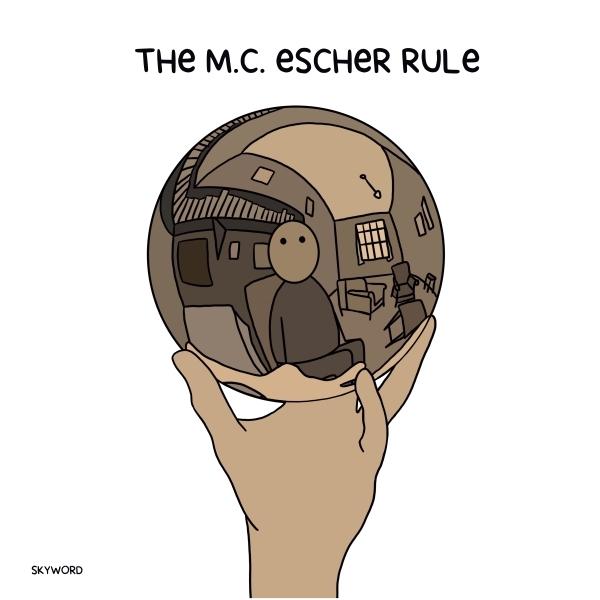 Doodle of M.C. Escher sketch