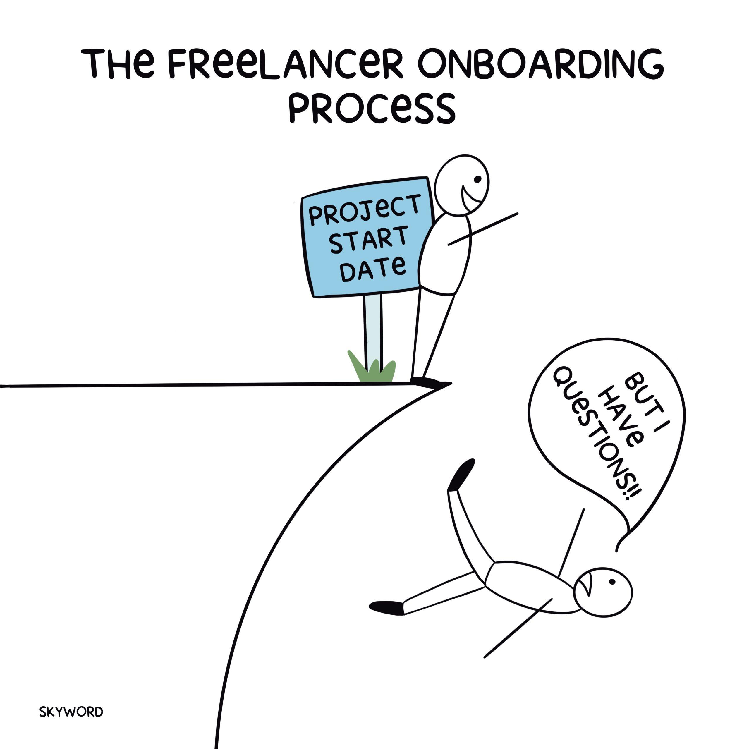 freelancer onboarding involves a learning curve