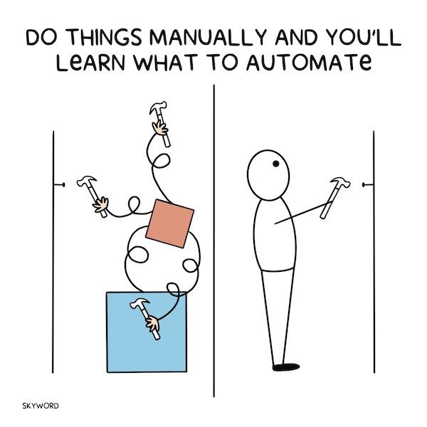 complex machine vs simple manual work